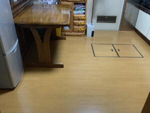 床上貼り工事